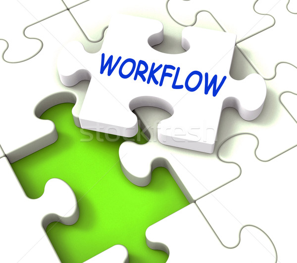 Workflow puzzle struktury proces procedura Zdjęcia stock © stuartmiles