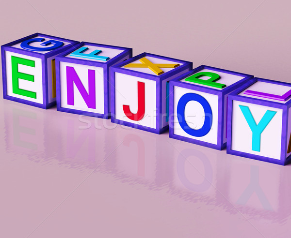 Enjoy Blocks Show Pleasant Relaxing And Pleasing Stock photo © stuartmiles