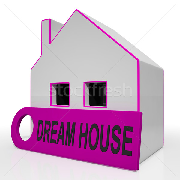 Dream House Home Shows Purchase Or Construct Perfect Property Stock photo © stuartmiles