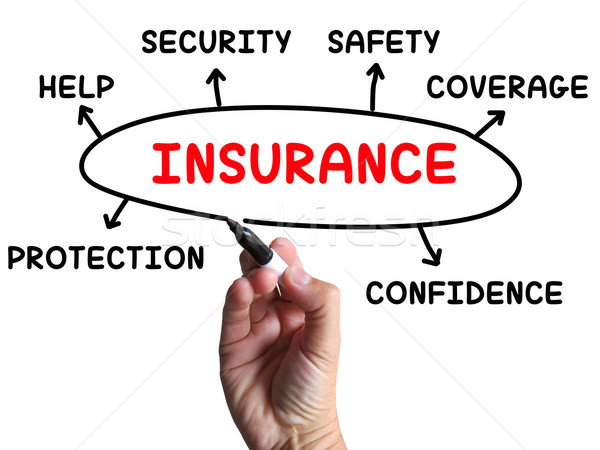 Insurance Diagram Shows Protection Coverage And Security Stock photo © stuartmiles