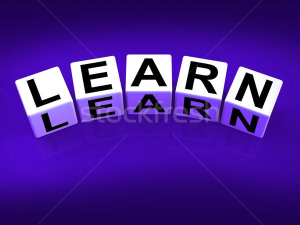 Learn Blocks Show Education Studying and Learning Stock photo © stuartmiles
