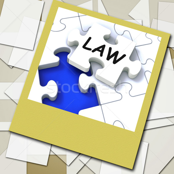 Law Photo Shows Legal Information And Legislation On Internet Stock photo © stuartmiles