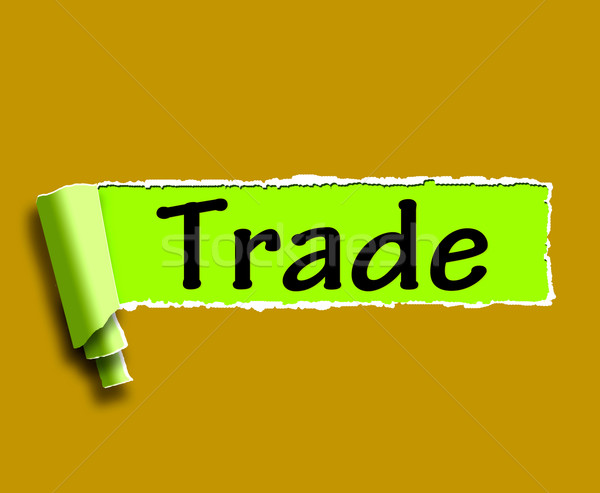 Trade Word Shows Online Buying Selling And Shops Stock photo © stuartmiles