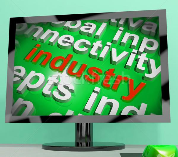Indústria nuvem da palavra industrial local de trabalho fabrico Foto stock © stuartmiles