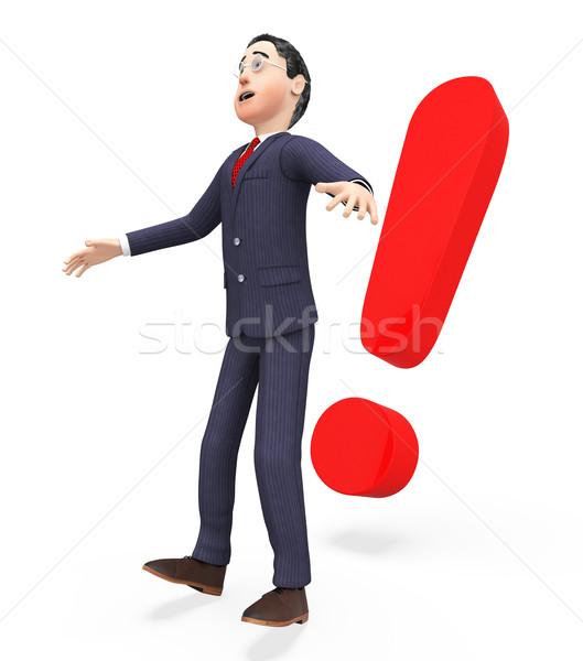ビジネスマン ショック 感嘆符 驚いた ビジネスマン ストックフォト © stuartmiles