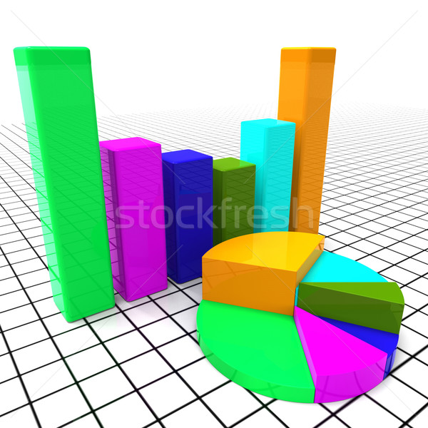 Pie Chart Report Means Business Graph And Data Stock photo © stuartmiles