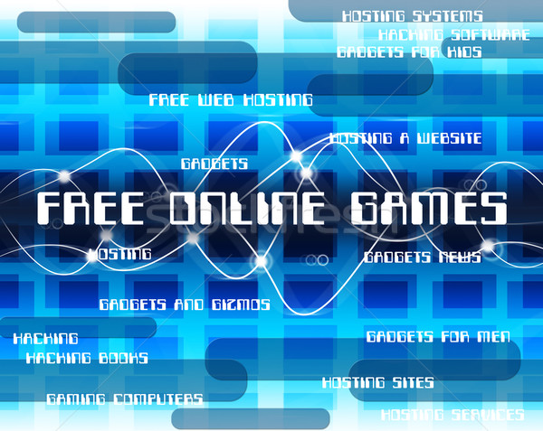 Free Online Games Means With Our Compliments And Web Stock photo © stuartmiles