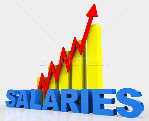 Increase Salaries Shows Financial Report And Develop Stock photo © stuartmiles