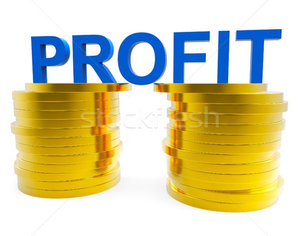 Negocios beneficio financieros rentable efectivo moneda Foto stock © stuartmiles
