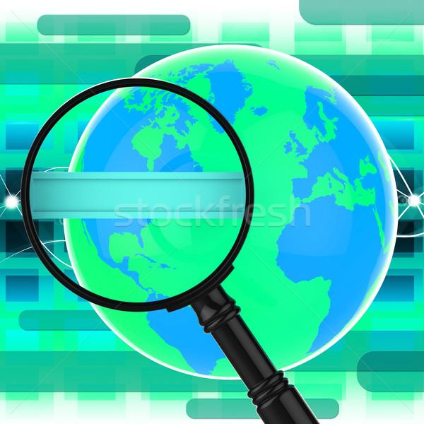 Zoek internet world wide web analyse betekenis Stockfoto © stuartmiles