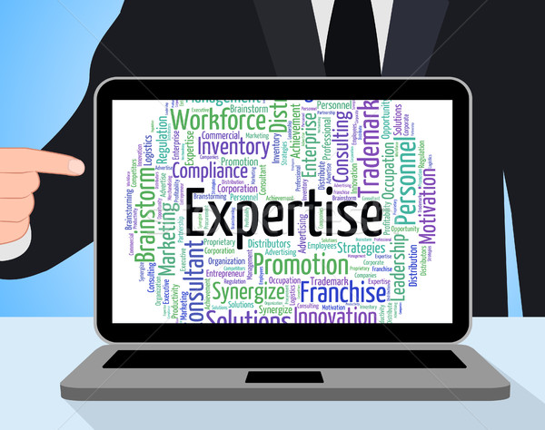 Expertise Word Represents Proficiency Words And Education Stock photo © stuartmiles