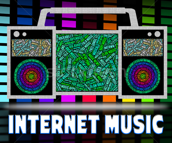 Internet Music Indicates World Wide Web And Acoustic Stock photo © stuartmiles