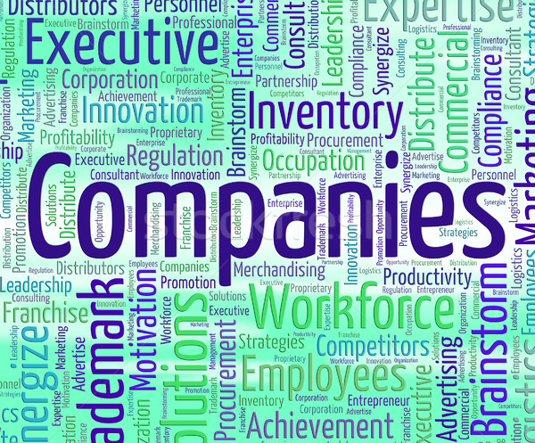 Bedrijven woord corporate bedrijf woorden betekenis Stockfoto © stuartmiles