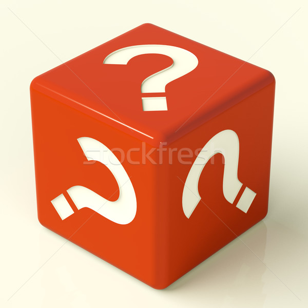 Question Mark Dice As Symbol For Information Stock photo © stuartmiles