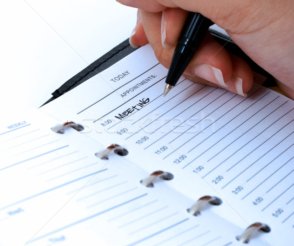 Scheduling A Meeting In A Diary Stock photo © stuartmiles