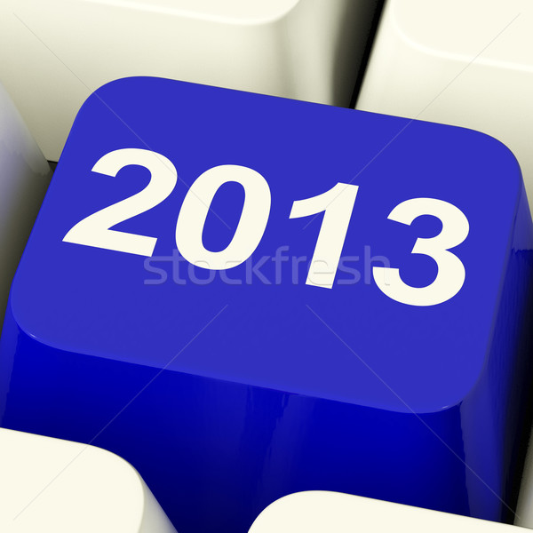 2013 Key On Keyboard Representing Year Two Thousand And Thirteen Stock photo © stuartmiles