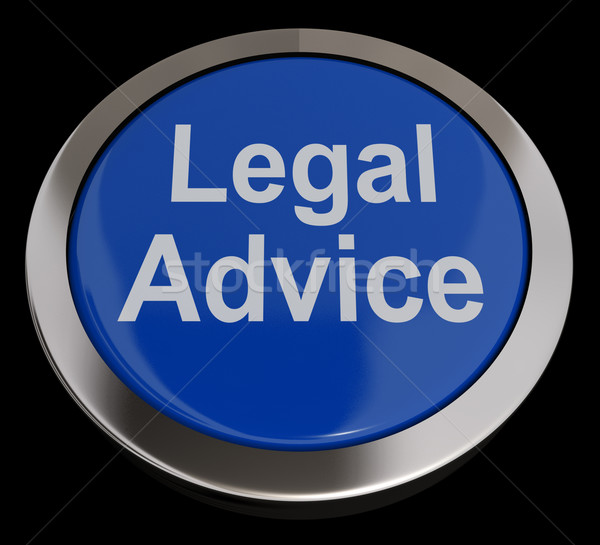 Legal Advice Button In Blue Showing Attorney Guidance Stock photo © stuartmiles