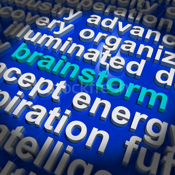 Lluvia de ideas palabra significado pensamiento creativo ideas nuevos Foto stock © stuartmiles