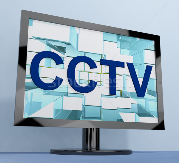 CCTV Monitor For Security Surveillance To Prevent Crime Stock photo © stuartmiles