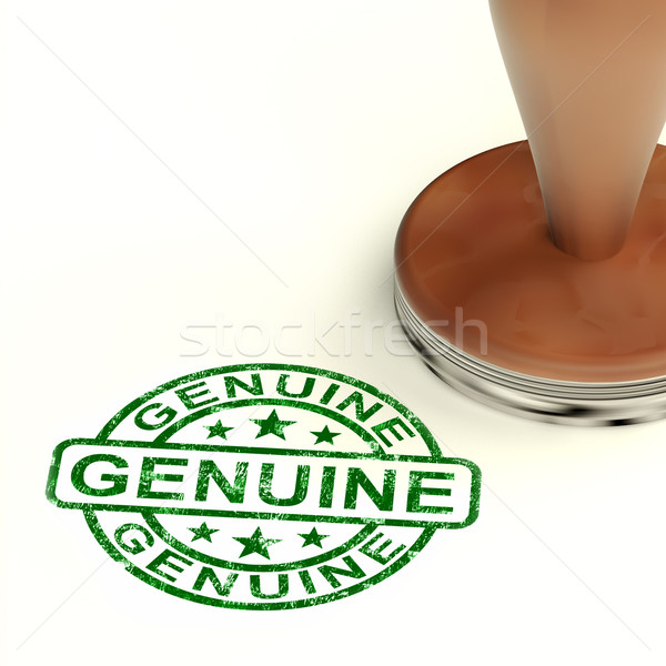 Stock photo: Genuine Stamp Showing Real Certified Products