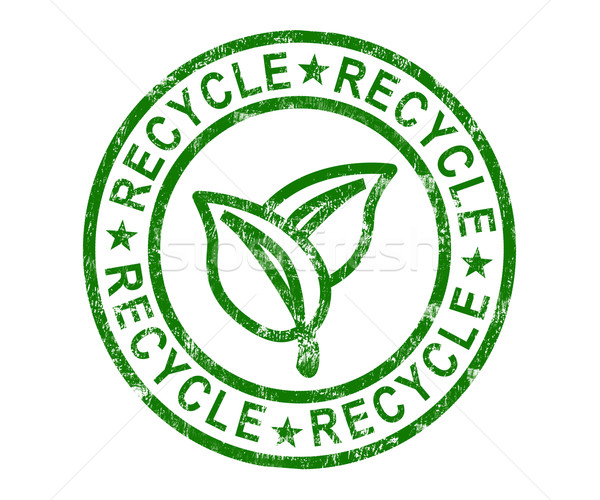 Recycle Stamp Shows Renewable And Eco friendly Stock photo © stuartmiles