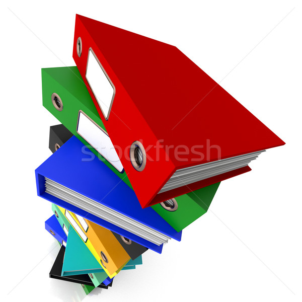 Fichiers organisé bureau papier dossier Photo stock © stuartmiles