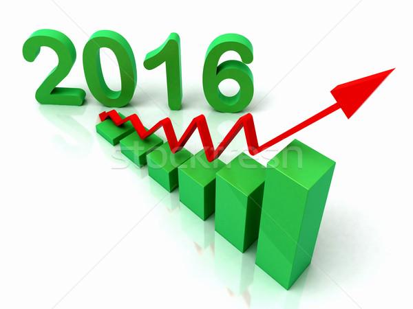 2016 Green Bar Chart Shows Budget  Stock photo © stuartmiles
