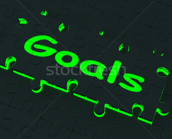 Goals Puzzle Showing Aspirations And Objectives Stock photo © stuartmiles