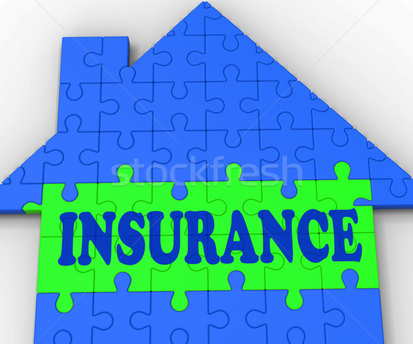 House Insurance Shows Home Protected And Insured Stock photo © stuartmiles