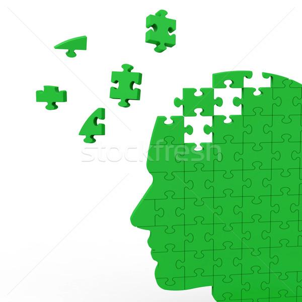Fej puzzle mutat emberi intelligencia Stock fotó © stuartmiles