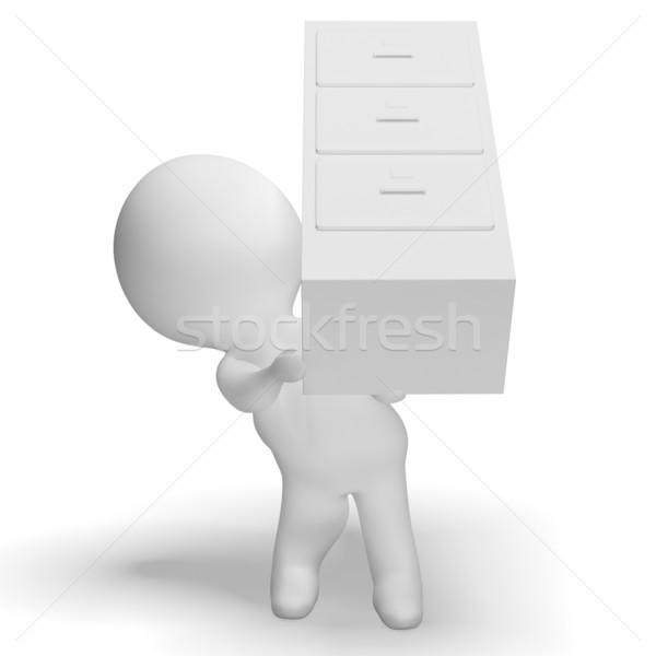 Placard réalisée 3D personnage organisation Photo stock © stuartmiles