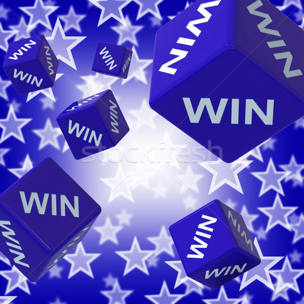Win Dice Background Showing Championship Stock photo © stuartmiles