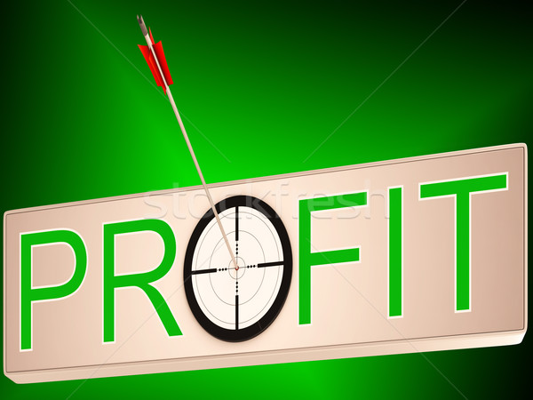 Profit Shows Earning Revenue And Business Growth Stock photo © stuartmiles