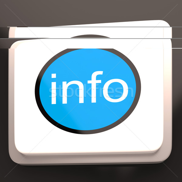 Info Button Shows Support And Assistance Stock photo © stuartmiles