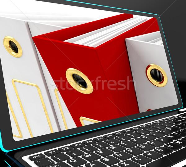 Rouge fichier portable organisé documents Photo stock © stuartmiles