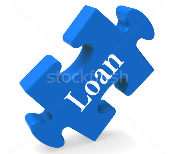 Loan Puzzle Shows Bank Lending Mortgage Or Loaning