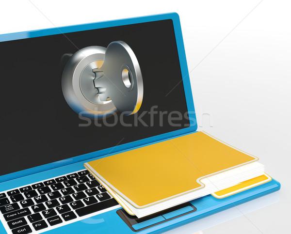 Clé fichier ordinateur mot de passe Photo stock © stuartmiles