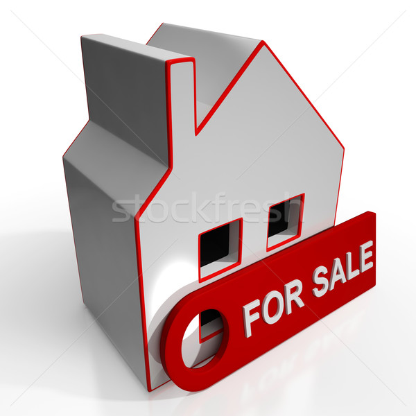 For Sale Sign On Home Stock photo © stuartmiles