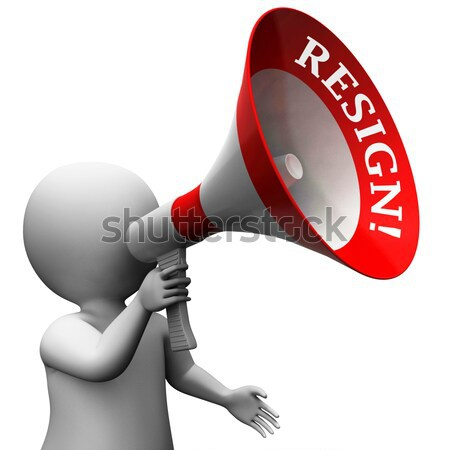 Loud Hailer Character With Copy Space Shows Announcements Procla Stock photo © stuartmiles