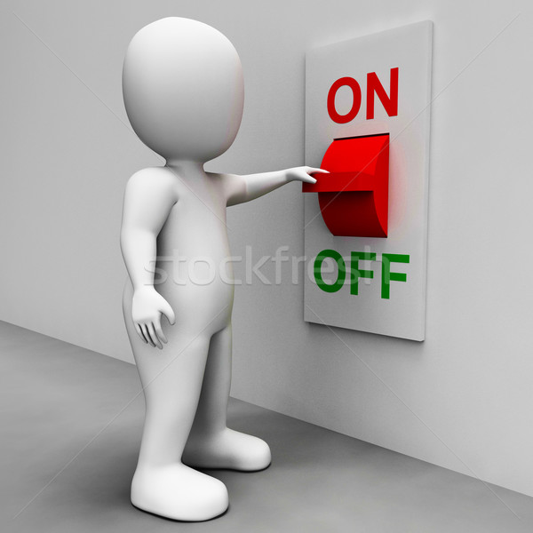 On Off Switch Shows Energy Supply Stock photo © stuartmiles