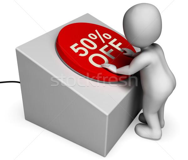 ötven százalék el gomb alkalmi vétel jelentés Stock fotó © stuartmiles