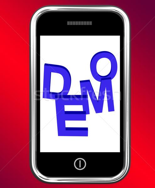 Telefoon ontwikkeling beta versie tonen Stockfoto © stuartmiles