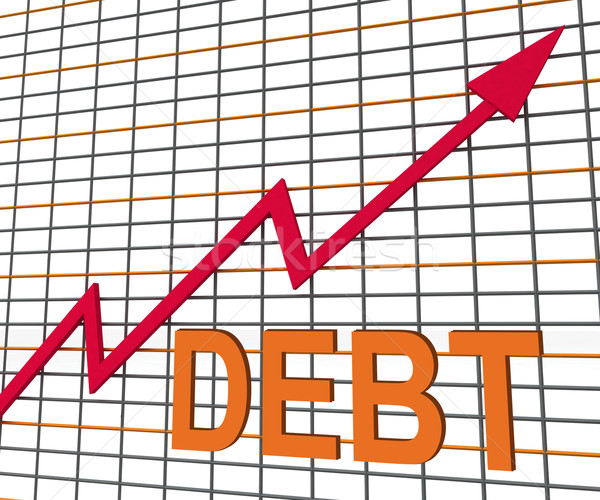 Debt Graph Chart Shows Increase Financial Indebted Stock photo © stuartmiles
