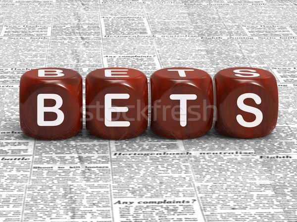 Bets Dice Mean Gambling Risk And Betting Stock photo © stuartmiles