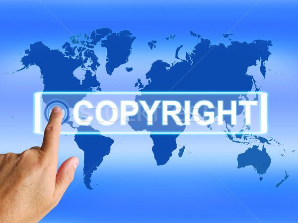 著作権 地図 世界的な 特許の 知的財産 ストックフォト © stuartmiles