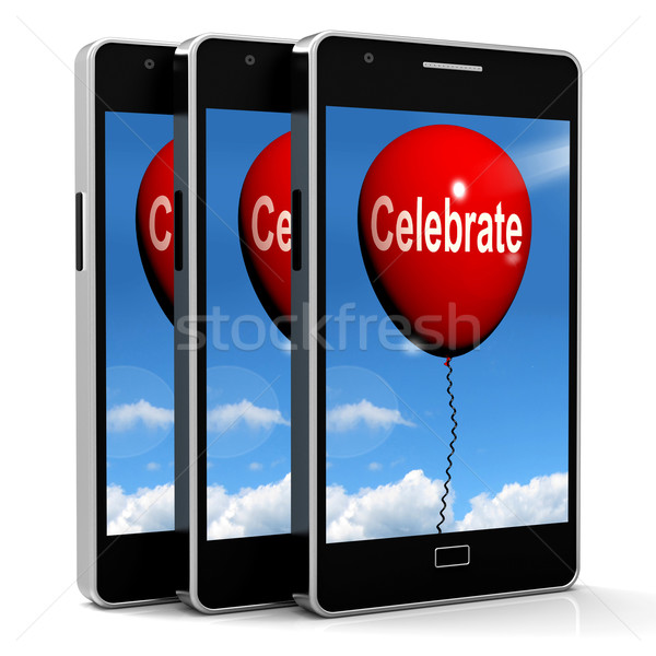 Celebrate Balloon Means Events Parties and Celebrations Stock photo © stuartmiles