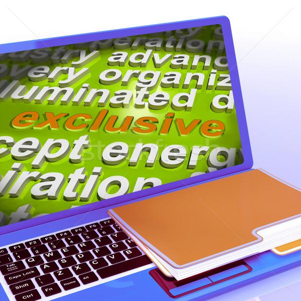 эксклюзивный слово облако ноутбука уникальный редкий Сток-фото © stuartmiles