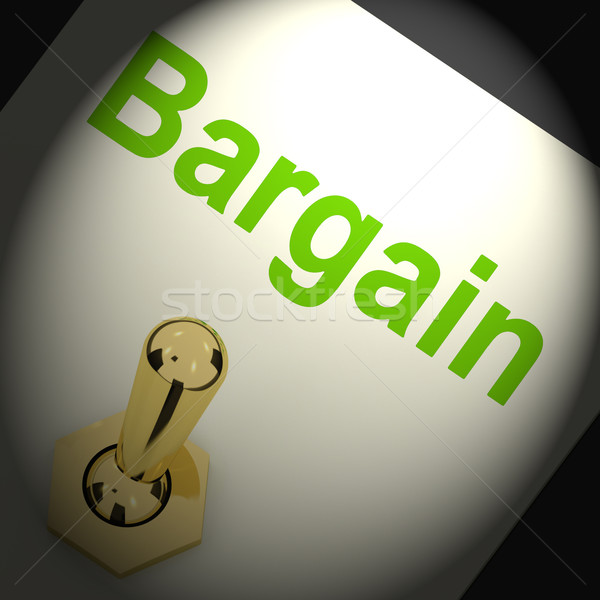 Bargains Switch Shows Discount Promotion Or Markdown Stock photo © stuartmiles
