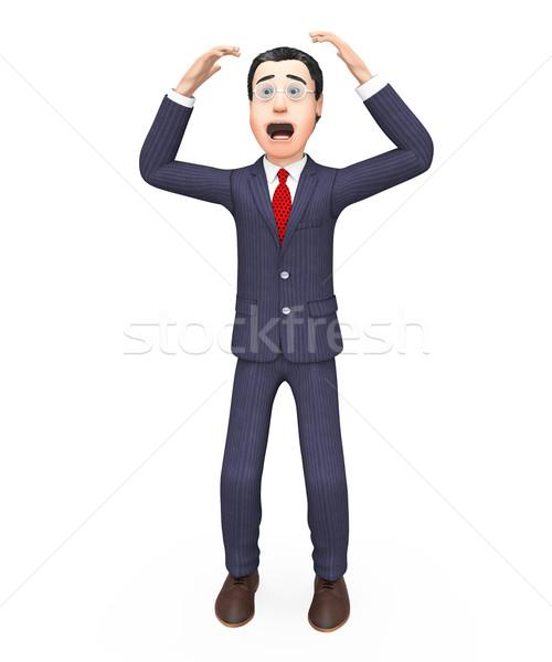 Businessman With Problem Represents Stumbling Block And Businessmen Stock photo © stuartmiles
