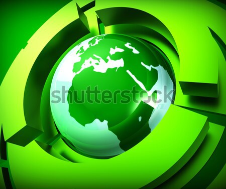 Worldwide Globe Represents Online Globally And Globalise Stock photo © stuartmiles